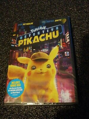 POKEMON/POKÉMON: DETECTIVE PIKACHU (DVD + Bonus Disc, 2019)  NEW 2-Disc Edition