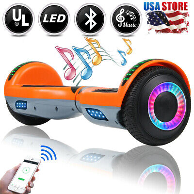 """6.5"""" Bluetooth Hoverboard LED Self Balancing Electric Scooter UL Without Bag New"""