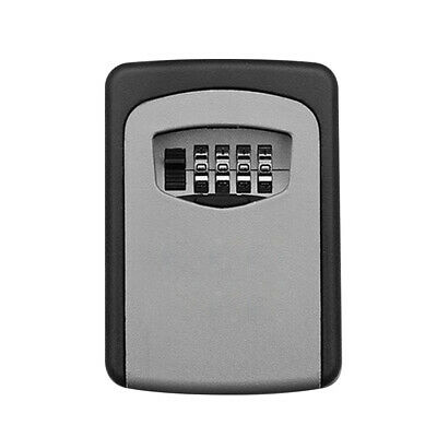 Wall Mounted Outdoor Key Storage Lock Box 4-Digit Combination Password Key G8X2