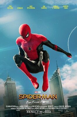 Laminated Spider-Man Far From Home Art Poster 24x36in (61x91cm)