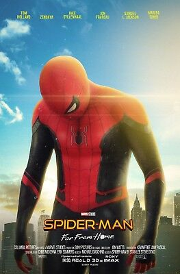 Laminated SPIDER MAN Far From Home Art Poster 24x36in (61x91cm)