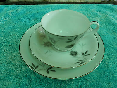 Tea Cup Saucer and Cake Plate Trio RC (Royal Ceramics) Fine China suit Collector