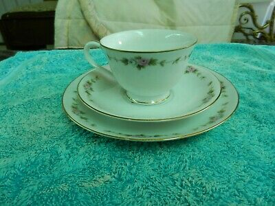 Tea Cup Saucer & Cake Plate Trio RC (Royal Ceramics) Fine China suit Collector b
