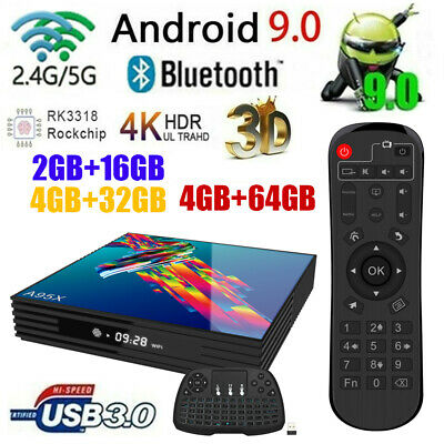 A95X Smart TV Box Android9.0 4K Media 4-Core WIFI BT4.2 16/32/64GB+Tastiera F5S0
