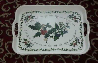 "Portmeirion THE HOLLY AND THE IVY  9/"" OVAL SERVING BOWL New /& Boxed"