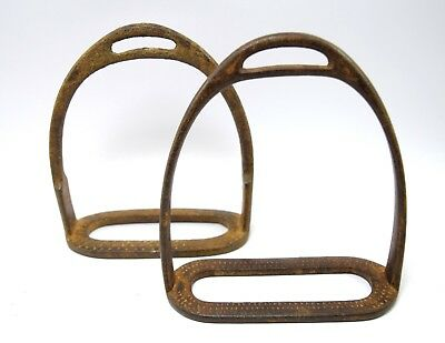 India Vintage Collectible Horse Stirrup pair Pedal Farm House Decor. G42-155 UK
