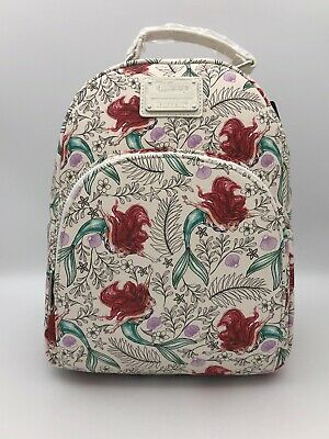 Loungefly Disney The Little Mermaid Swimming Ariel Mini Floral Backpack Bag