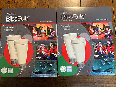 Lot of 2 Packages- BlissLights BlissBulb Laser Red and Green