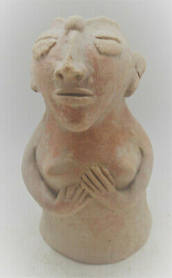 Finest Circa 2200-1800Bce Ancient Indus Valley Harappan Terracotta Pillar Idol