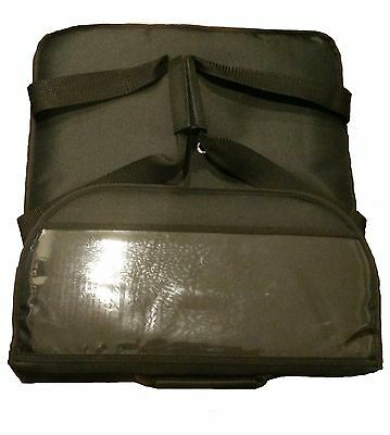 "16"" inch Insulated Pizza Delivery Bag Black (can hold three 14"" pizza)"