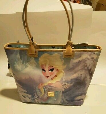 Disney Parks FROZEN Princess Elsa and Anna Tote by Dooney and Bourke