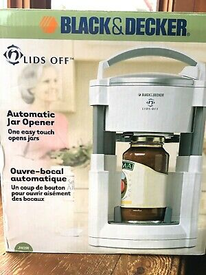Black&Decker New Lids Off Automatic Jar Opener JW 200 w/ Box,One Easy Touch Open
