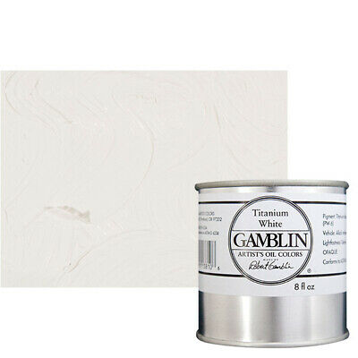 Gamblin Artist's Oil Color 8 oz Can - Titanium White