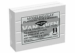 Plastalina Modeling Clay 4.5 lb. Bar - White
