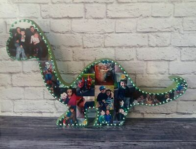 Personalised Photo Collage Dinosaur Dad Brother Baby Birthday,Mothers Day,Gift