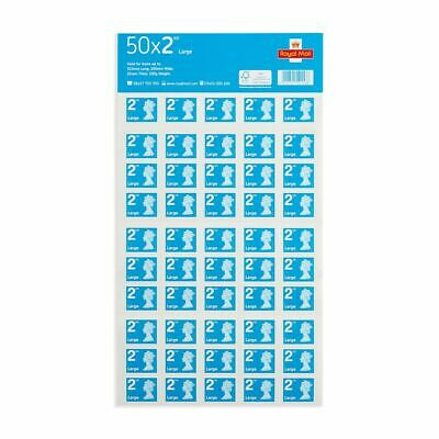 Royal Mail Second Class Large Letter Size 2nd Class 50 Stamps