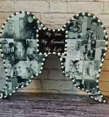 Personalised Photo Collage Angel Wings Memorial, Birthday,Mothers Day,Gift