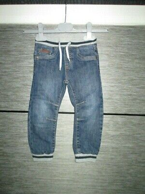 Boys Lab Industries Blue Cuffed Jeans Size 98Cms  Age 2 Yrs Vgc