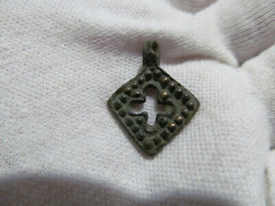 Ancient bronze cross Kievan Rus Vikings 11-13 AD № 627/4