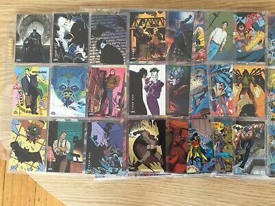 BATMAN SAGA OF THE DARK KNIGHT TRADING CARDS COMPLETE SET By SKYBOX YEAR 1994