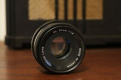 Yashica ML 50mm f/1.9 pancake prime lens for contax yashica c/y mount