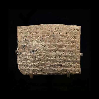 A large Babylonian cuneiform tablet, time of Hammurabi, ca. 1810 – 1750 BCE