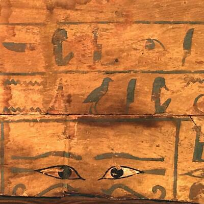 An Egyptian Wood Side Panel from a Sarcophagus for the Priestess Het-epher, Midd