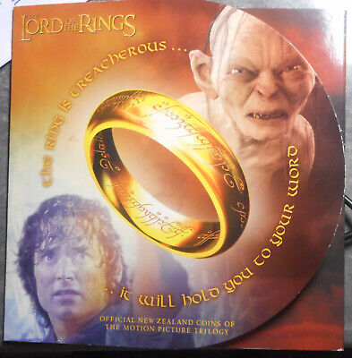 New Zealand 2003 Lord of the Rings Dollar 50 Cent Coin set of 6  UNC