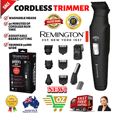 Remington Mens Beard Hair Clipper Trimmer Cordless Electric NEW Barbers Best