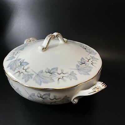 Royal Albert Silver Maple Covered Serving Bowl Tureen Casserole Dish