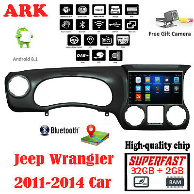 """10.2"""" Android 8.1 Radio for Jeep wrangler 2011-2014 Stereo GPS Navigation + Cam"""