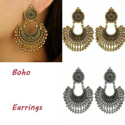 Women Tribal Oxidized Gold Silver Jhumka Girl Earrings Indian Bollywood Jewelry