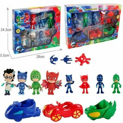 PJ Masks Action Figures Set Catboy Owlette Gekko Racing Track Playset Kids Gift
