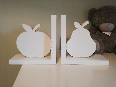 Apple & Pear White children's bookends