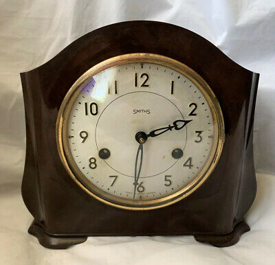 Art Deco Smiths Bakelite Chiming Clock - Good Working Order