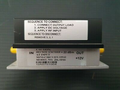Mini-Circuits ZHL-1010+ Low Noise Amplifier 50Ω Medium High Power 50 to 1000MHz