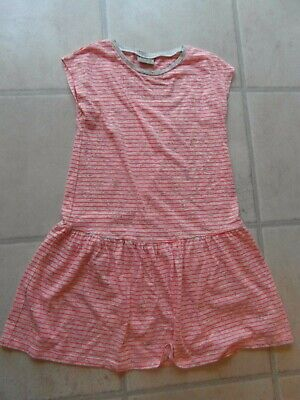 Pre-Owned: GIRLS PEACH & WHITE STRIPE SUN DRESS From NEXT - 11 YEARS Hardly Worn