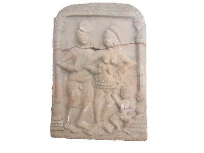 Extremely Rare Ancient Gandhara Terracotta Relief Panel Depicting Buddhas