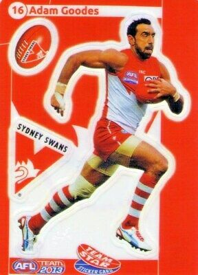Teamcoach 2013 Star Sticker Adam Goodes Sydney