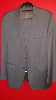Ralph Lauren Mens 2pc Suit 40R 100%Wool pinstriped gray. Altered, not worn