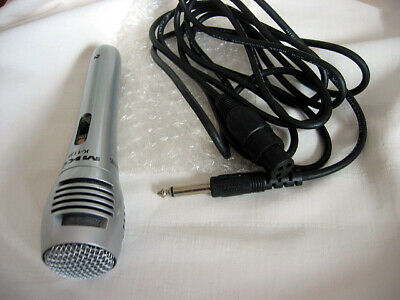 MKG K-1138 Basic Karaoke Sing Along Handheld Mic with Cable On Off Switch