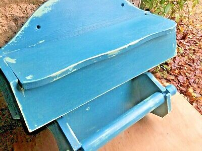 Vintage French wooden cling film foil and kitchen paper dispenser good condition