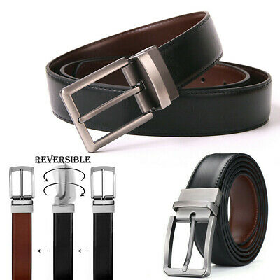 Z015229 Mens Genuine Leather Reversible Belt
