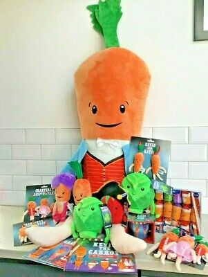 OFFICIAL 2019 ALDI Kevin Carrot/ Russell Sprout/ Tiny Tom Katie Jasper & Baby