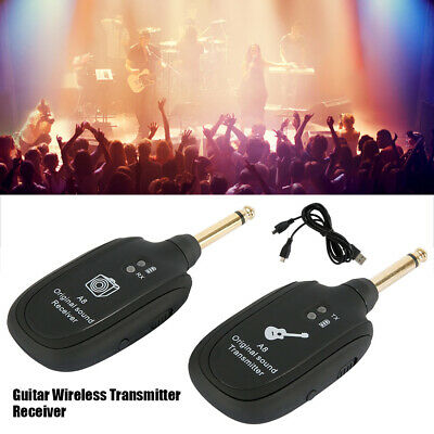 Muslady 2.4G Wireless Guitar System Transmitter Rechargeable50MTransmission U0Q7