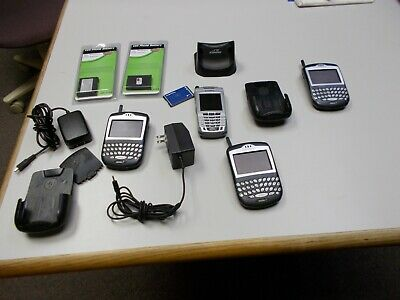 Vintage Blackberry Smart Phone Nextel (Lot of 3) with Accessories Chargers RIM