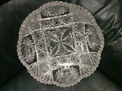 Magnificent Antique American Brilliant Cut Glass Crystal Abp Bowl