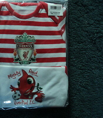 Liverpool Fc Football Club Baby Sleepsuits 6-9 Months X 2 New
