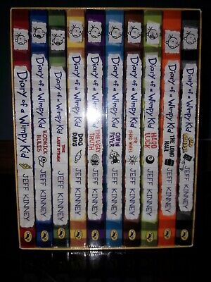 Jeff Kinney Diary of a Wimpy Kid Series Collection 10 Books Box Set NEW SEALED