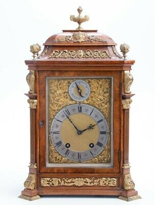 Lenzkirch  8-day walnut cased bracket clock with gilt metal mounts